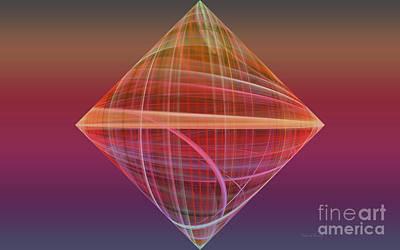 Apophysis Mixed Media - Diamond Ripple by Deborah Benoit