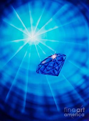 Spirit Catcher Painting - Blue Diamond by Walter Zettl