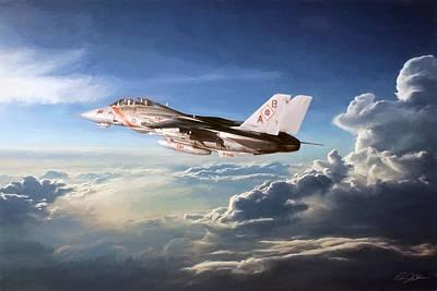 F-14 Digital Art - Diamonds In The Sky by Peter Chilelli