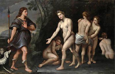 Domenichino Painting - Diana And Actaeon by Domenichino