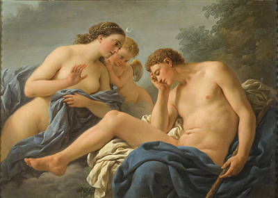Louis-jean-francois Lagrenee Painting - Diana And Endymion by Louis-Jean-Francois Lagrenee
