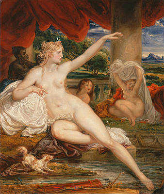 James Ward Painting - Diana At The Bath by James Ward