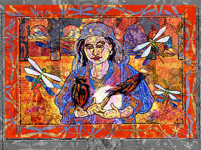 Gypsy Digital Art - Diana Goddess Of The Moon by Mary Ogle