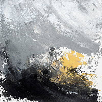 Dark Abstract Painting - Diana Ludet, Bresler Residency No. 28, 2015 by Diana Ludet