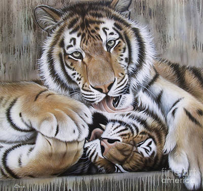 Airbrush Painting - Diana's Duo by Sandi Baker