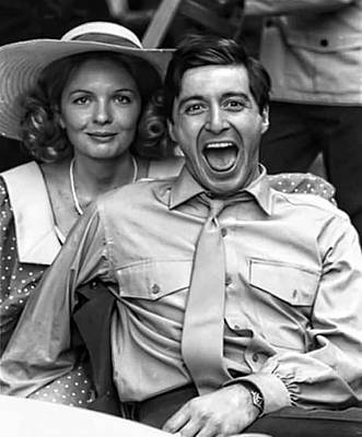 Diane Keaton Photograph - Diane Keaton Al Pacino The Godfather Set 1972 by David Lee Guss