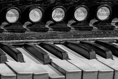 Pump Organ Photograph - Diapason Forte by James Barber