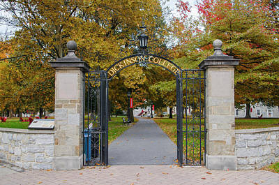 Photograph - Dickinson College In Autumn - Carlisle Pennsylvania by Bill Cannon