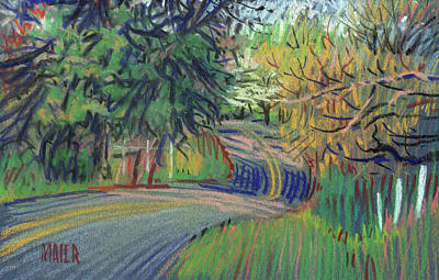 Dickson Drawing - Dickson Road by Donald Maier