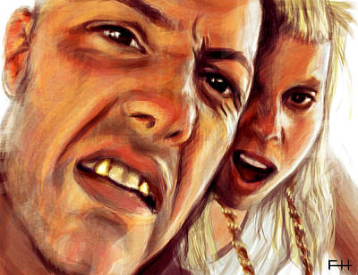 South Africa Painting - Die Antwoord by Fay Helfer