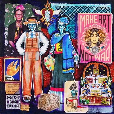 Kahlo Mixed Media - Diego And Frida by Candy Mayer
