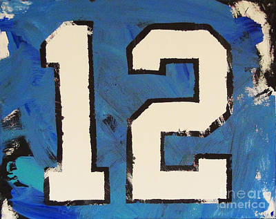 Twelfth Painting - Diehard 12th Man by Candace Shrope
