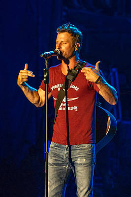 Dierks Bentley Drunk On A Plane Print by Mike Burgquist