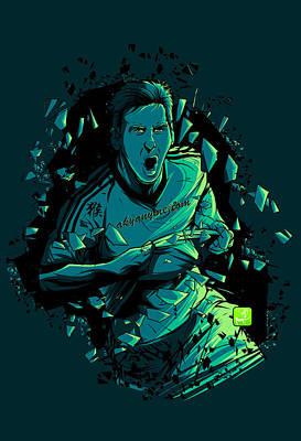 Soccer Digital Art - Dieu by Akyanyme