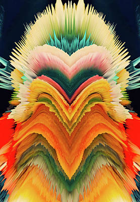 Vivid Eruption Print by Colleen Taylor