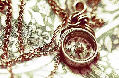 Clock Digital Art - Digital Antiquarian Metal by VRL Art