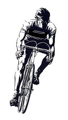 Digital Cyclist Print by Daniel Hagerman
