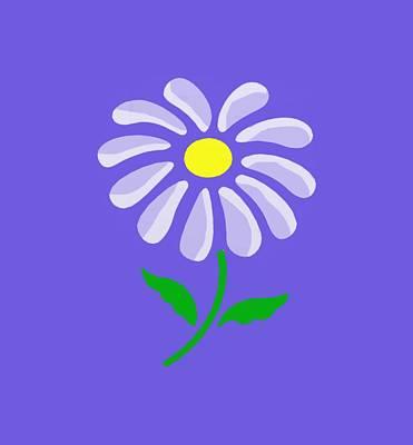 Digital Flower  Print by Gina Lee Manley