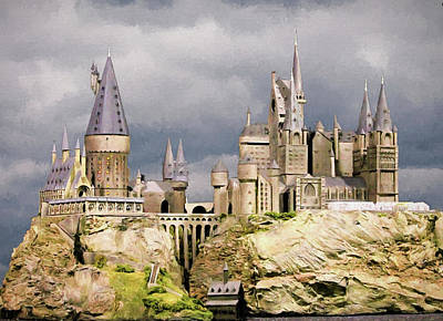 Digital Hogwarts School  Print by Roy Pedersen