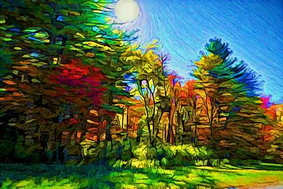 Plein Air Digital Art - Sunny Afternoon by Lilia D