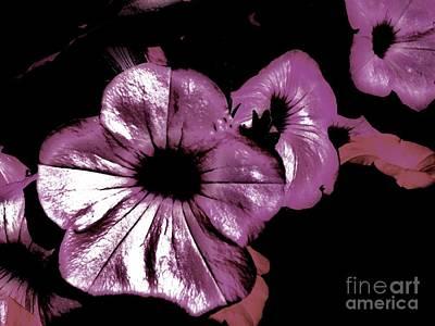 Luminescent Digital Art - Digital Petunia by Marsha Heiken