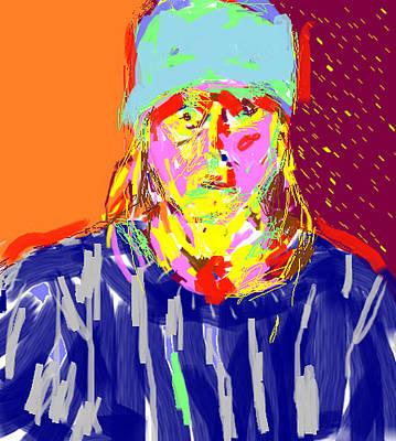 Digital Self Portrait Print by Anita Dale Livaditis