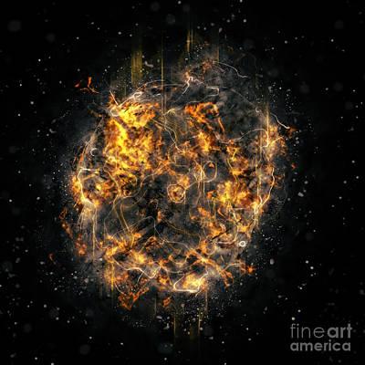 Digitally Created Exploding Supernova Star  Print by Ilan Rosen