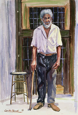 African-american Painting - Dignified Elder by Carlton Murrell