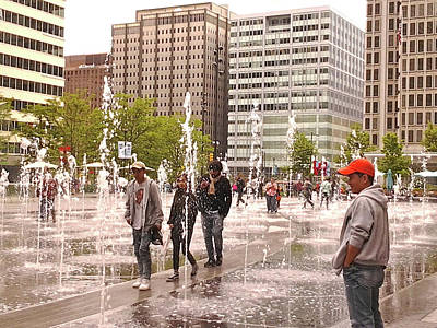 Photograph - Dilworth Park Water Feature  Philadelphia Pa by Mother Nature