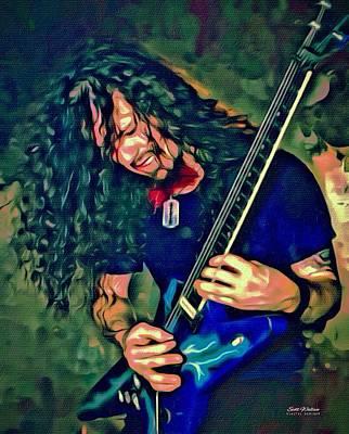 Metallica Digital Art - Dimebag Darrell Portrait by Scott Wallace