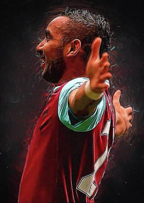 Cristiano Ronaldo Digital Art - Dimitri Payet by Semih Yurdabak