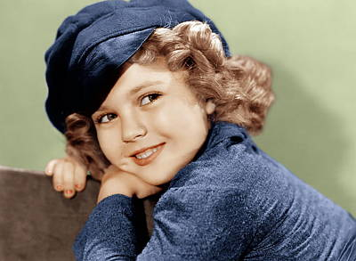 Temples Photograph - Dimples, Shirley Temple, 1936 by Everett