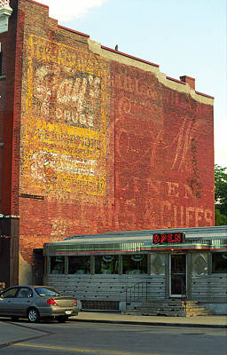 Auburn Ny - Diner And Ghost Mural Print by Frank Romeo