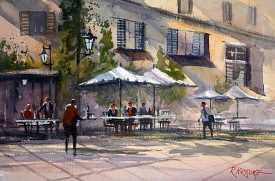 Dining Alfresco Print by Ryan Radke