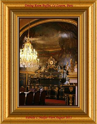 Louvre Mixed Media - Dining Room Buffet by Fabiola L Nadjar Fiore