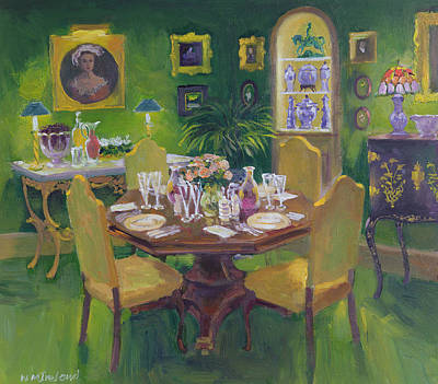 Wine Glasses Painting - Dinner Party by William Ireland
