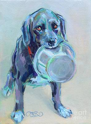 Animal Shelter Painting - Dinnertime Dutchess by Kimberly Santini