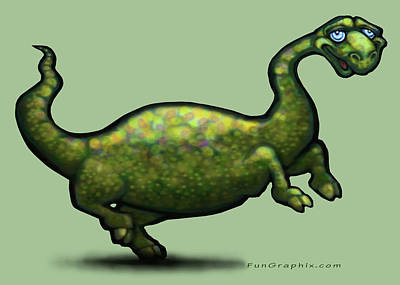 Dinosaur Print by Kevin Middleton