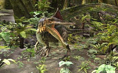 Digital Art - Dinosaur Spinosaurus by Design Windmill
