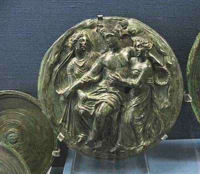 Dionysos With Maenads Print by Andonis Katanos