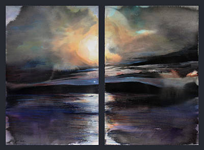 Painting - Diptych No.2 by Sumiyo Toribe