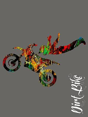 Cycles Mixed Media - Dirt Bike Superman Collection by Marvin Blaine