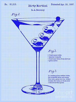 Martini Photograph - Dirty Martini Patent by Jon Neidert