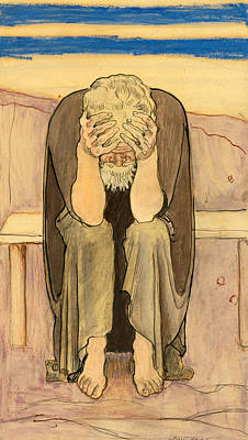 Ferdinand Hodler Drawing - Disappointed by Ferdinand Hodler