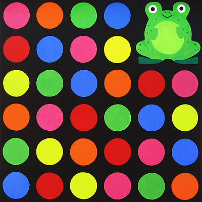 Lively Painting - Discofrog by Oliver Johnston
