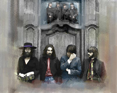 Gallery Drawing - Discontent The Beatles by Iconic Images Art Gallery David Pucciarelli