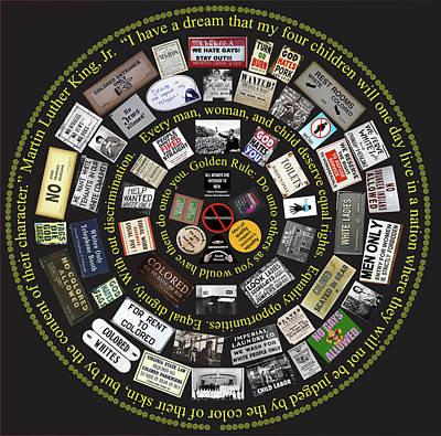 Discrimination Mandala Original by Paul Hamel