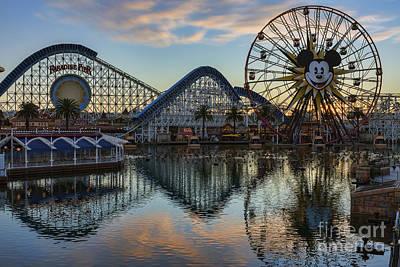 Disney California Adventure Reflections Print by Eddie Yerkish