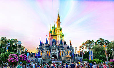 Disney World Castle Pa Prismatic Print by Thomas Woolworth