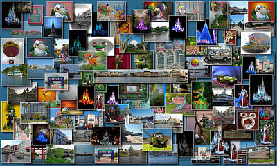 Disney World Collage Rectangle Print by Thomas Woolworth